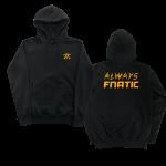 Fnatic Black and Orange Always Hoodie