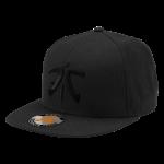 Fnatic Flat Brim Cap, Black Logo, Black