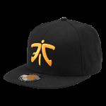 Fnatic Flat Brim Cap, Orange Logo, Black