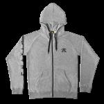 Fnatic Zipped Hoodie, Sleeve Logo, Melange Gray